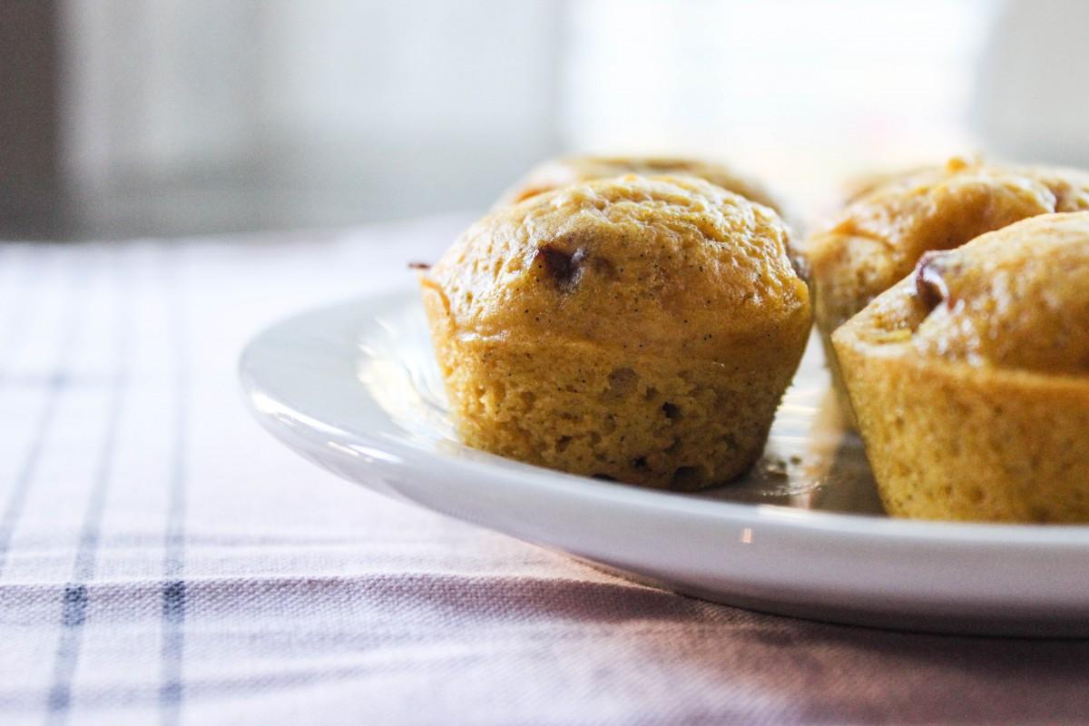 The Best 3 Ingredient Pumpkin Muffins!