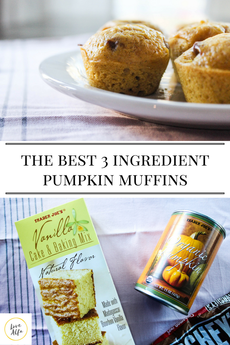 Yellow Cake And Canned Pumpkin Muffins