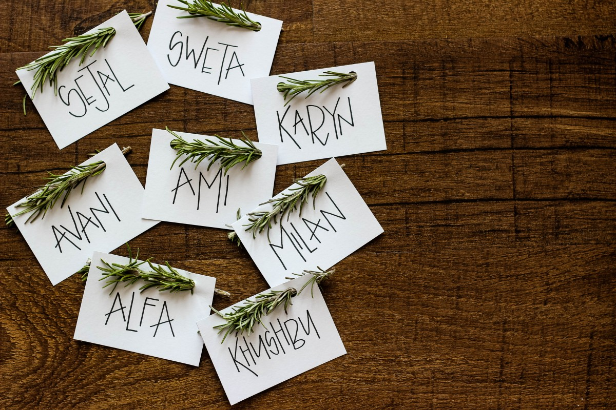 Easy Rosemary Name Place Cards