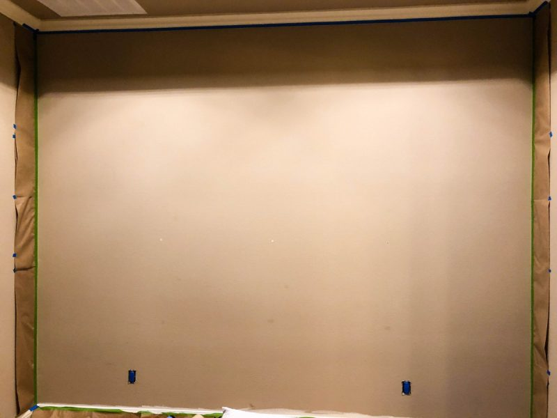 diy accent wall, paint, 100, hundred, bedroom, master bedroom diy, love alfa, home decor, navy decor, gold decor, tufted headboard