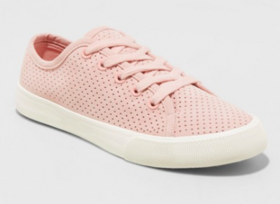 Pink Lace Up Sneakers