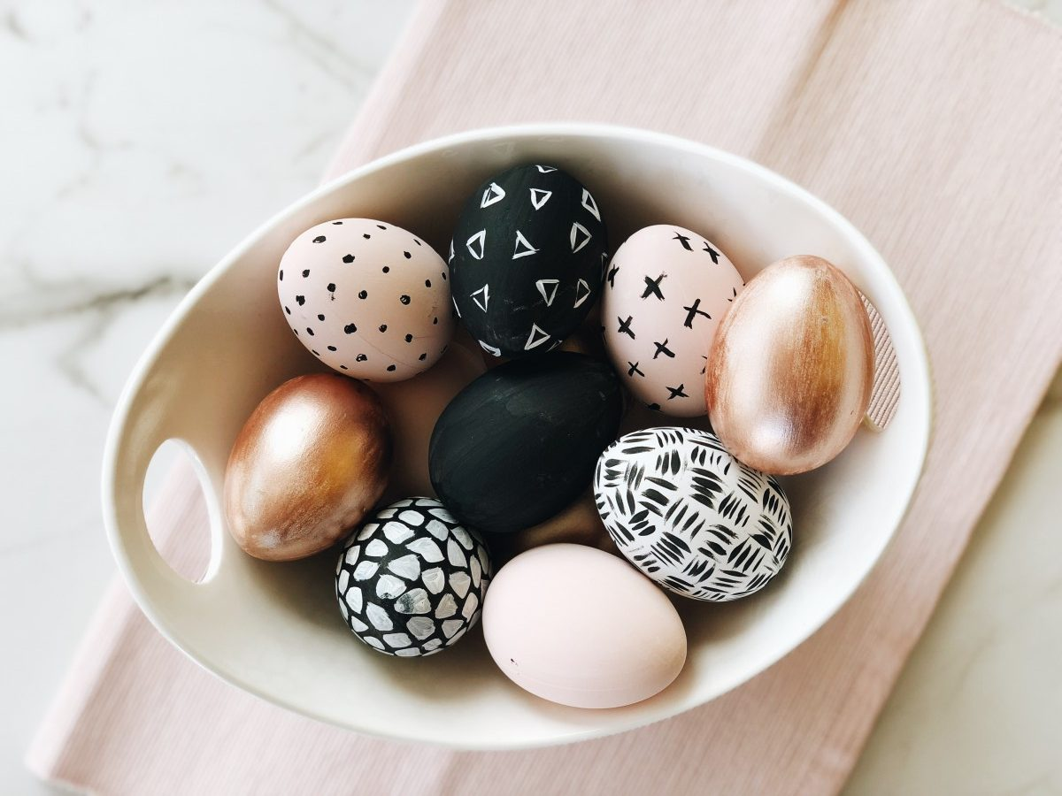 Tutorial: DIY Chic Easter Painted Eggs from the Target Dollar Spot!