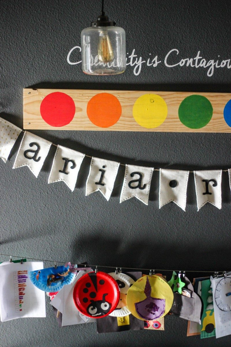 how to create an art wall, love alfa, home decor, kids playroom ideas