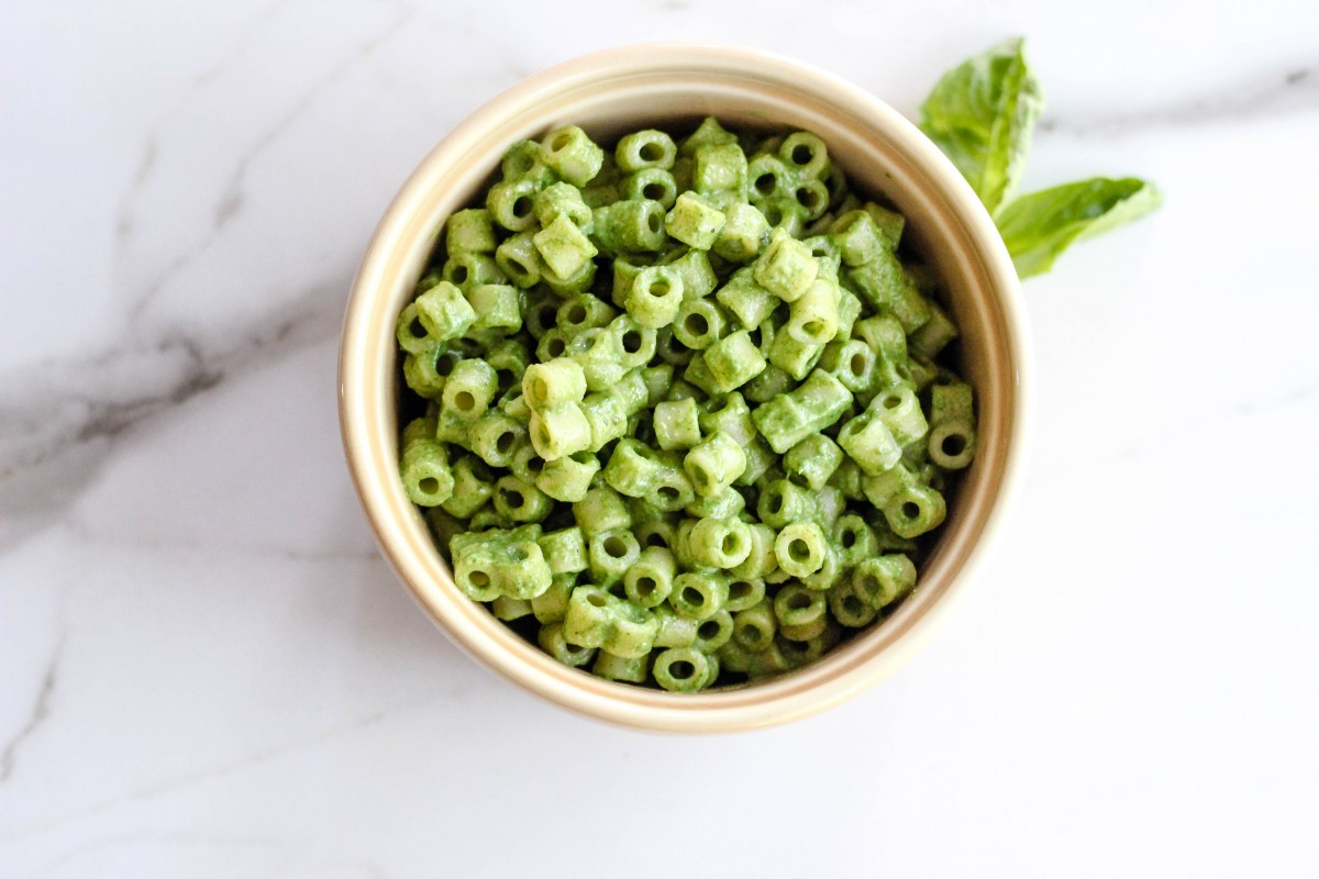 Toddler Friendly Spinach Basil Pasta