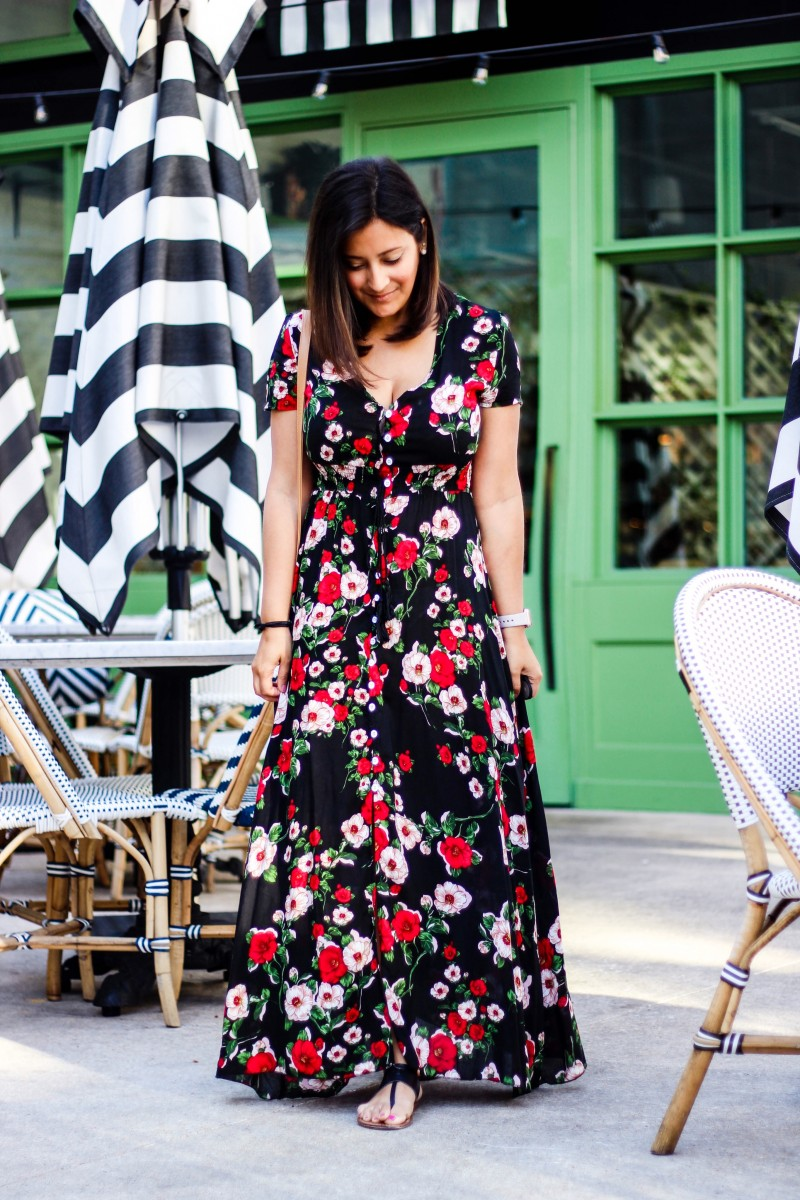 black floral maxi, white floral maxi, amazon fashion, amazon dress, 30 dollar dress, floral dress, love alfa