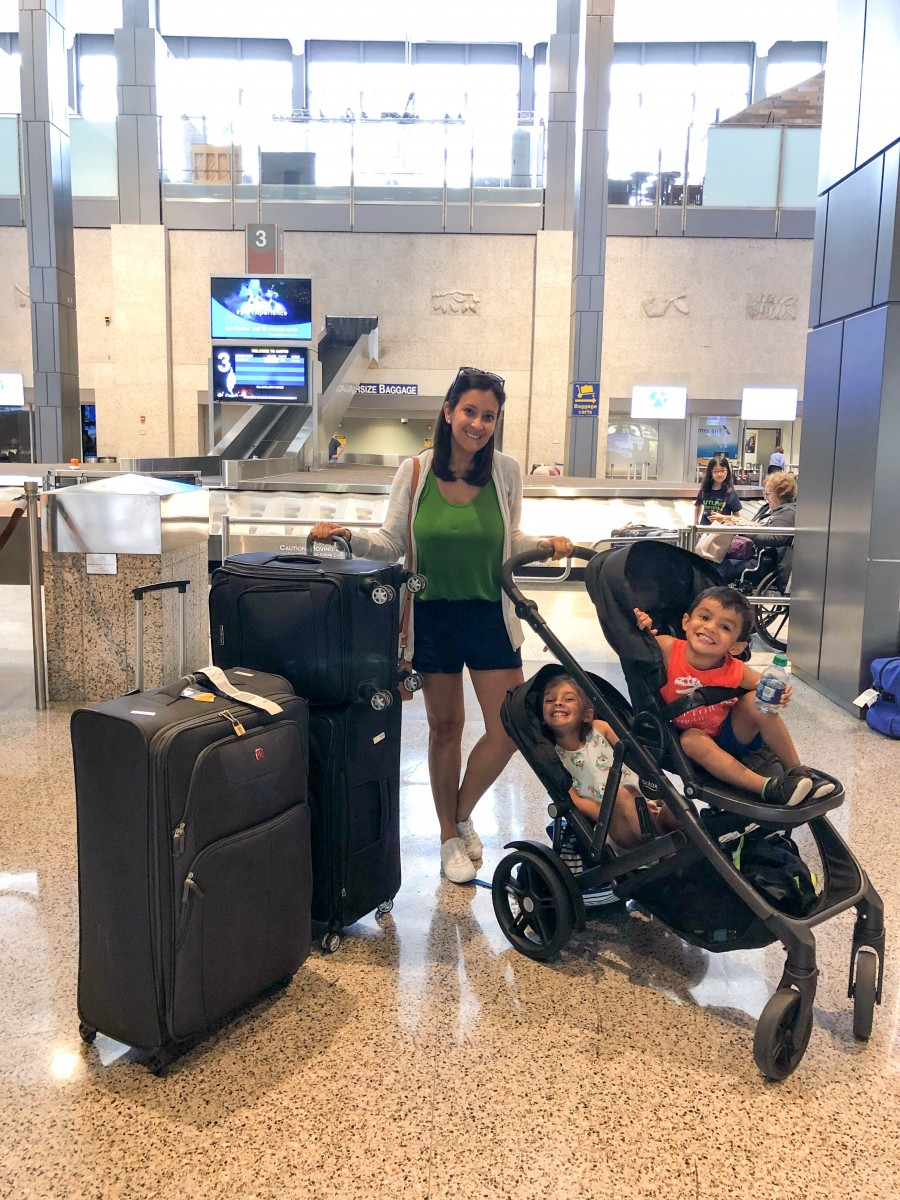 packing in two suitcases for a family of four, Love Alfa, packing cubes, switzerland, how to use packing cubes, family travel