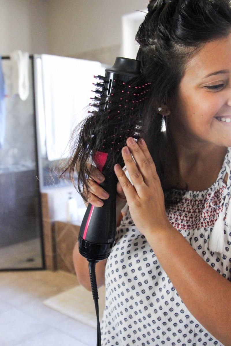 revlon one step hair dryer, how to use revlon one step hair dryer, revlon one step hair dryer review, hair tutorial, love alfa