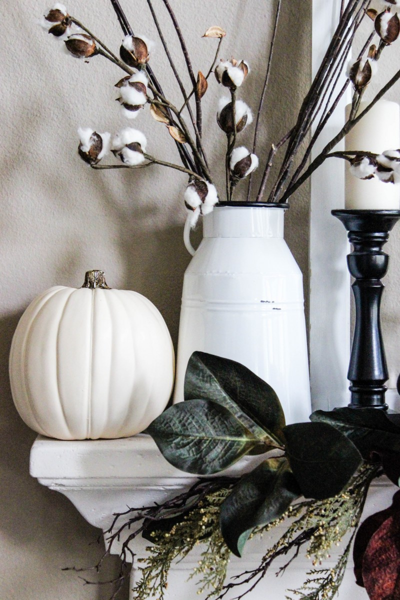 Fall Mantle Decor, fall decor, autumn decor, Holiday decor