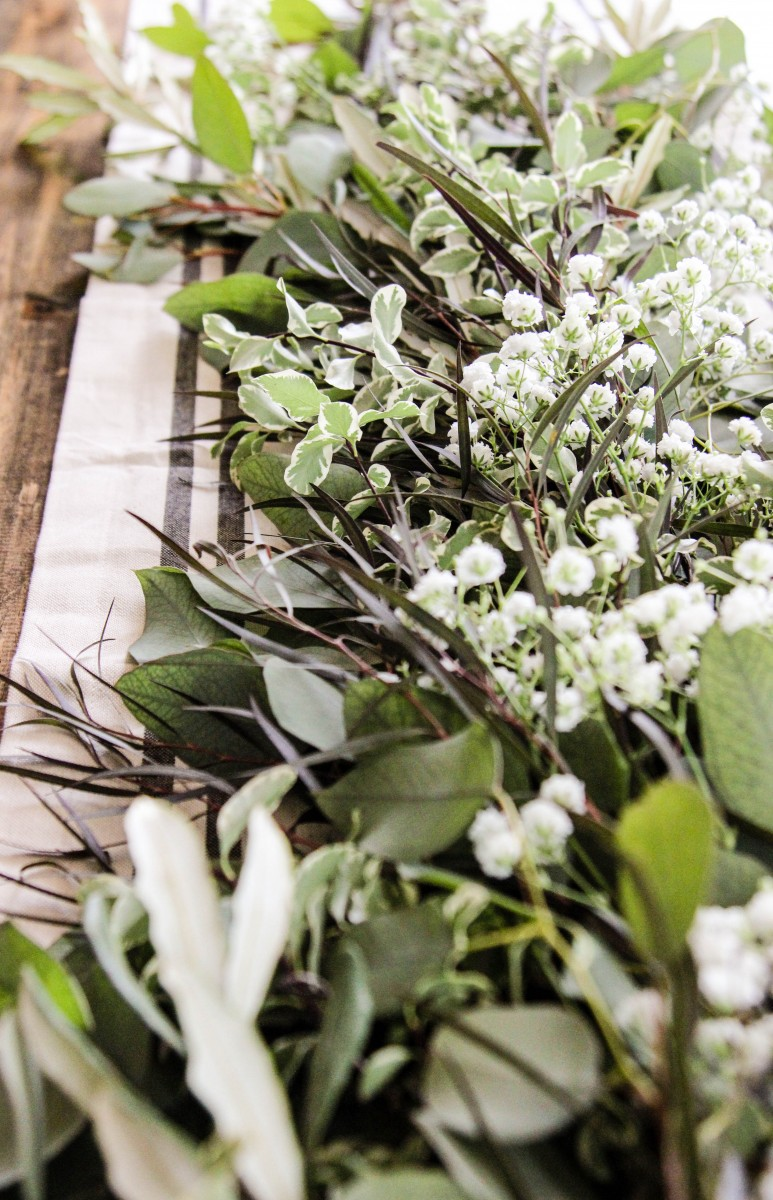 DIY fresh greenery garland, DIY, garland for the holidays, easy tablescapes, easy holiday decor, love,alfa, eucalyptus garland