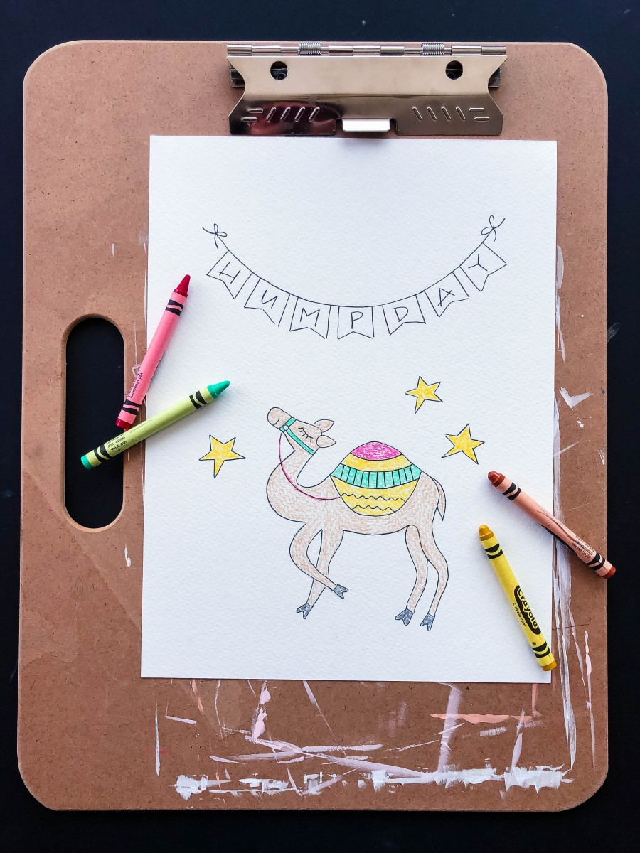 how to draw a banner, how to draw a pennant banner, banner doodles, pennant banner doodles, love alfa banner, love alfa pennant banner, humpday funny, camel humpday