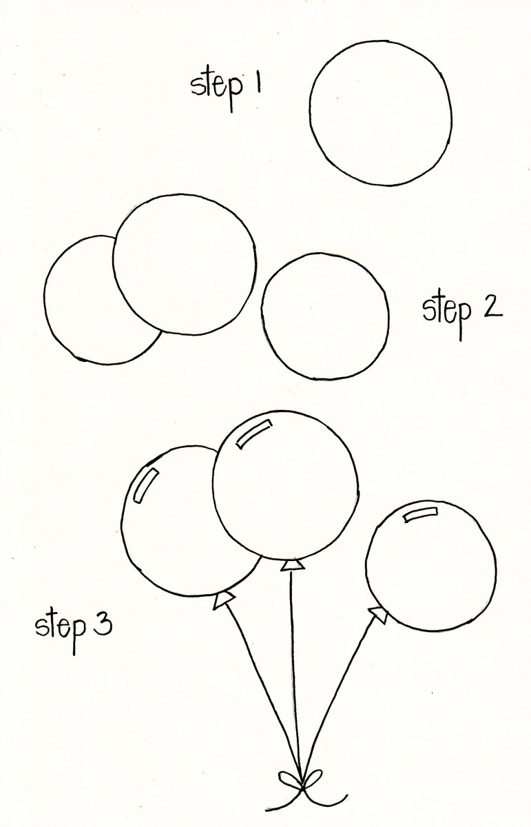 how to draw a balloon, balloon doodle, birthday doodles, birthday bullet journal, balloon bullet journal, balloon doodle love alfa, love alfa doodles