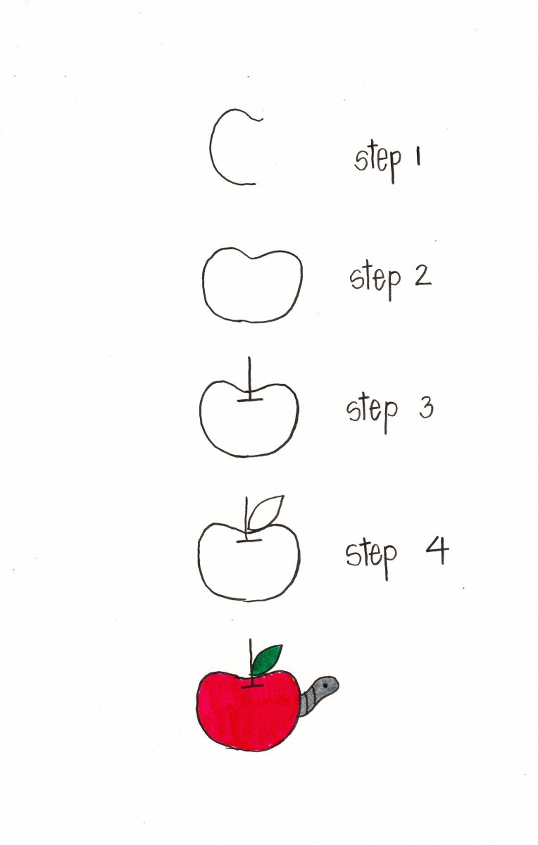 how to draw an apple, apple doodle, fall doodles, bullet journal apple, love alfa doodle, love alfa apple how to, easy apple drawing
