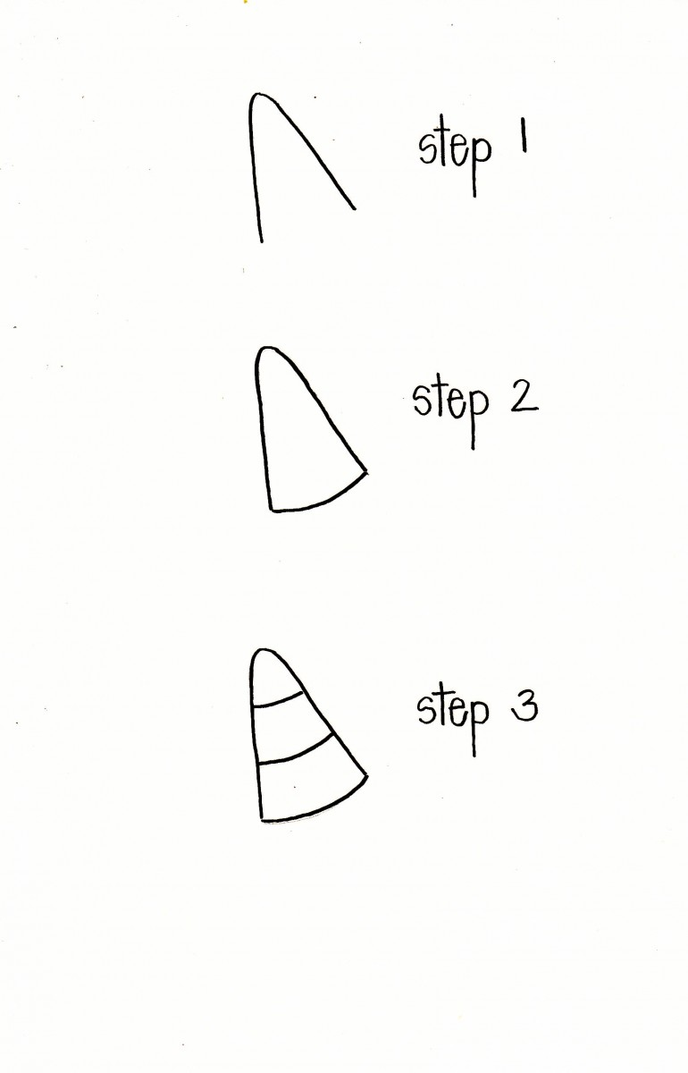 how to draw candy corn, candy corn doodles, halloween doodles, halloween bullet journal, love alfa candy corn doodle, easy doodles, easy drawings