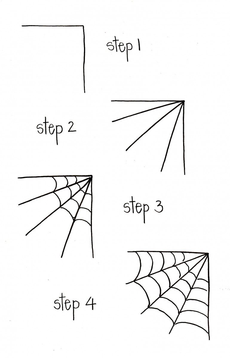 how to draw spider webs, spider web doodle, halloween doodles, halloween bullet journal, love alfa halloween doodles, love alfa spider web