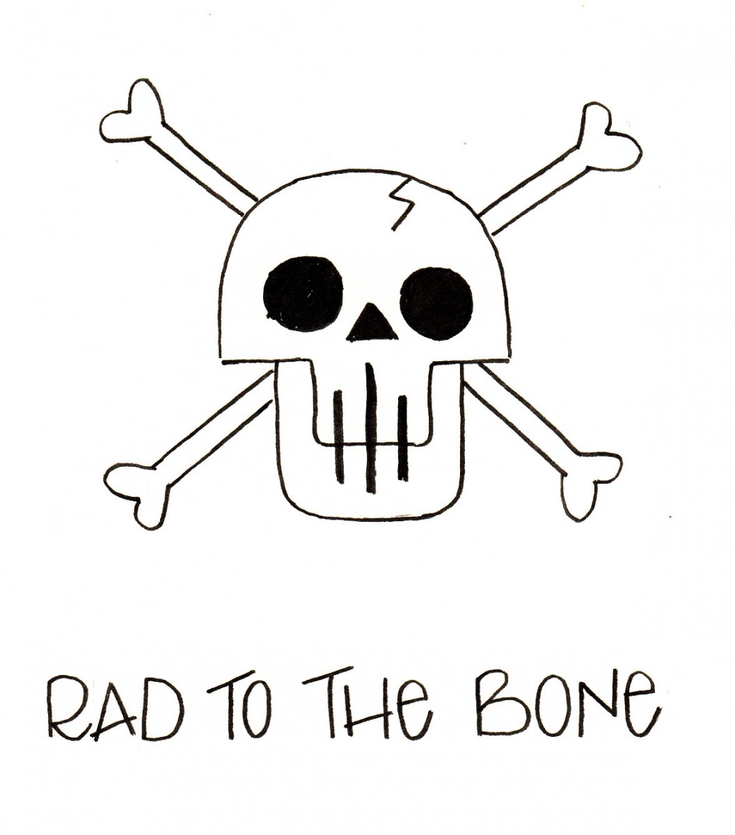 how to draw a skull, how to doodle a skull, love alfa halloween doodles, alfa the artist, love alfa skull, halloween bullet journal, rad to the bone, crossbones