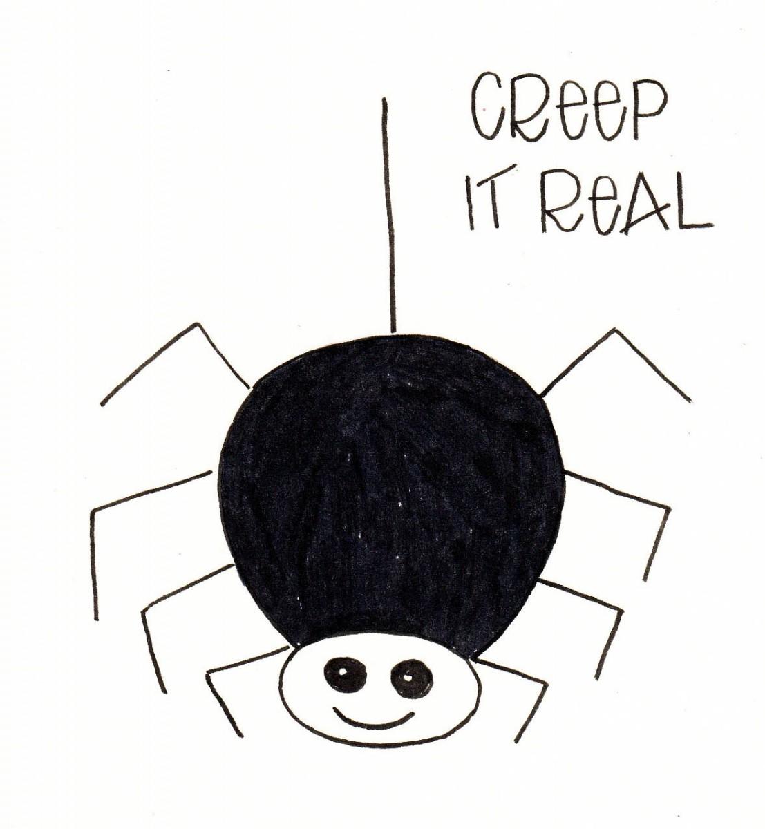 how to draw a spider, halloween doodles, halloween bullet journal, spider doodle, love alfa doodle, alfa the artist spider