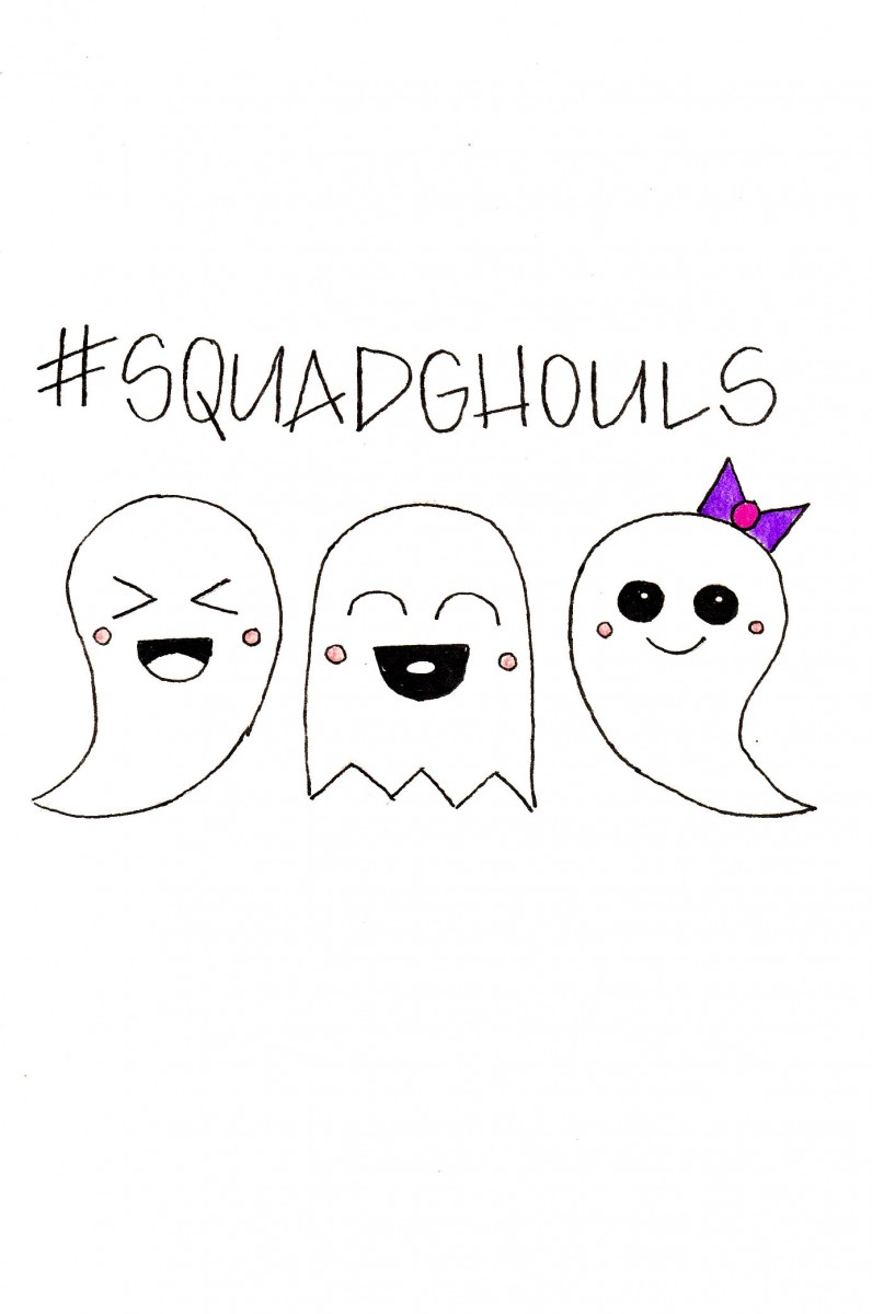 how to draw a ghost, ghost doodle, easy halloween doodles, love alfa ghost doodle, alfa the artist, halloween drawings, funny ghost puns, squad ghouls