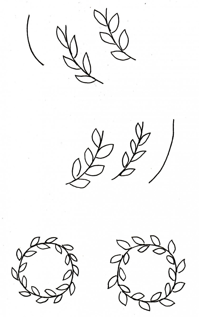 love alfa doodles, alfa the artist, vine wreath, simple wreath, how to draw a vine, vine leaves, thanksgiving doodles, easy doodles, leaf doodles