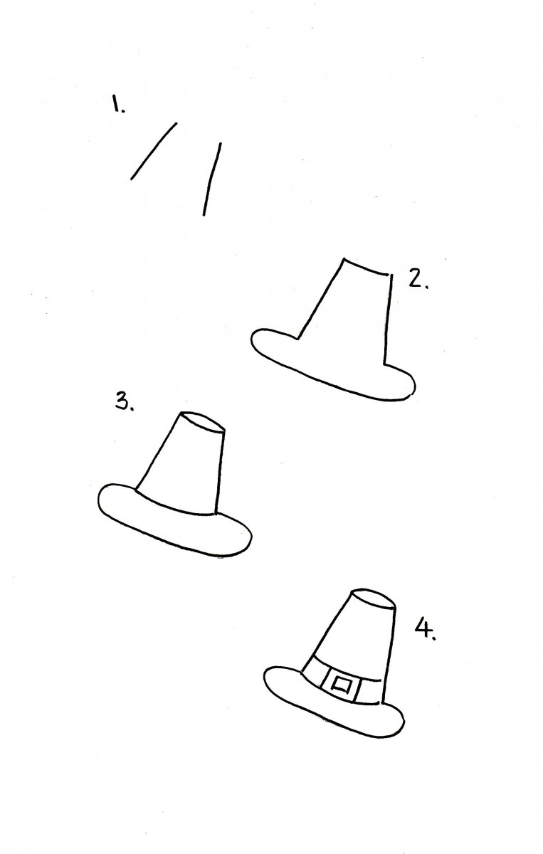how to draw a pilgrim hat, pilgrim hat doodle, love alfa doodles, alfa the artist, thanksgiving doodles, thanksgiving bullet journal ideas, bullet journal thanksgiving, how to draw a hat