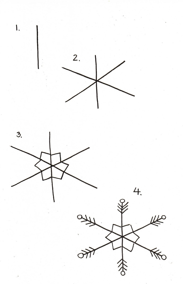 how to draw a snowflake, snowflake doodle, easy snowflake drawing, easy christmas doodles, how to draw christmas things, love alfa doodle, alfa the artist