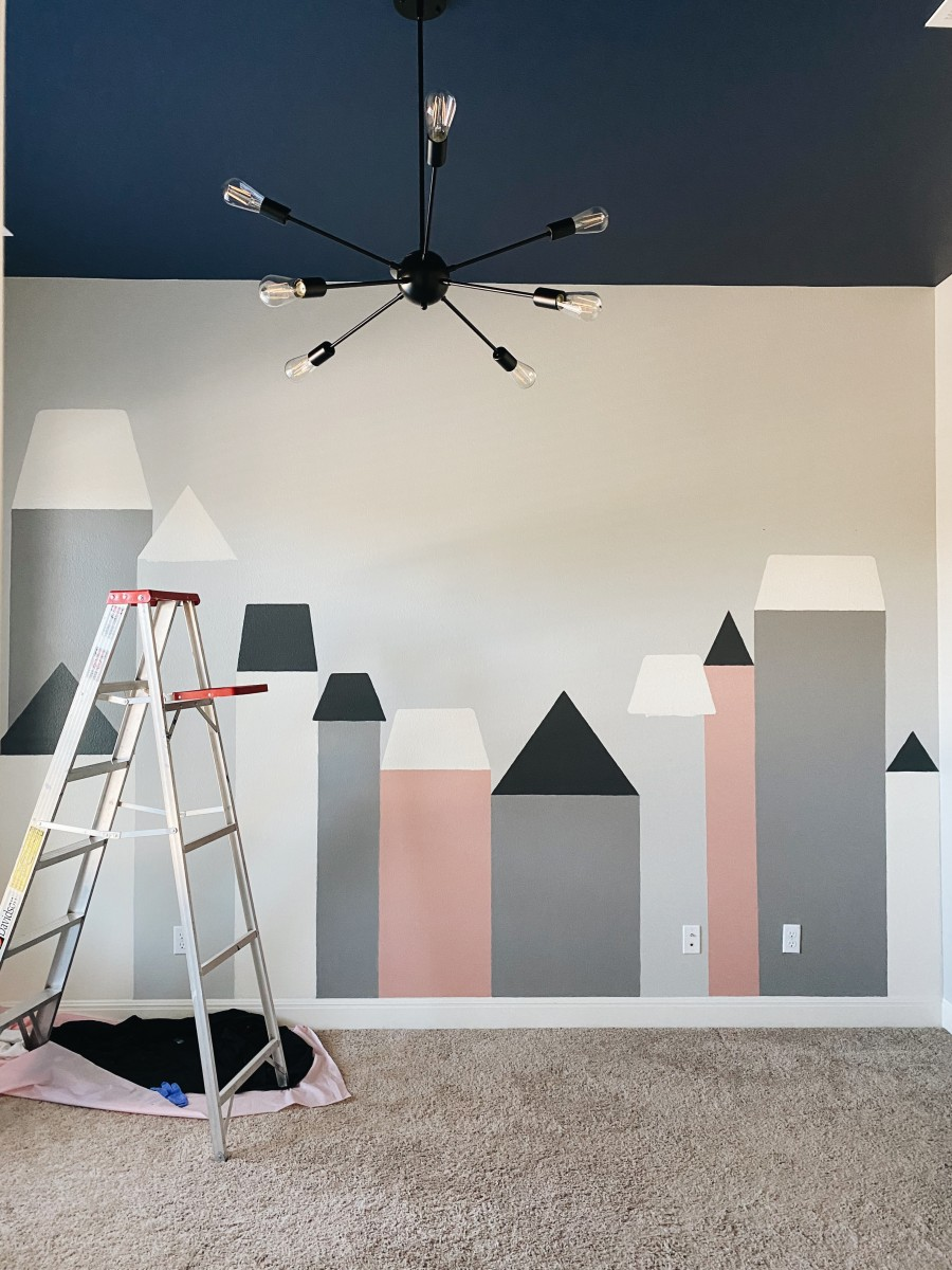 love alfa mural, love alfa wall mural, playroom ideas, playroom mural, playroom wall painting, playroom inspo, playroom inspiration