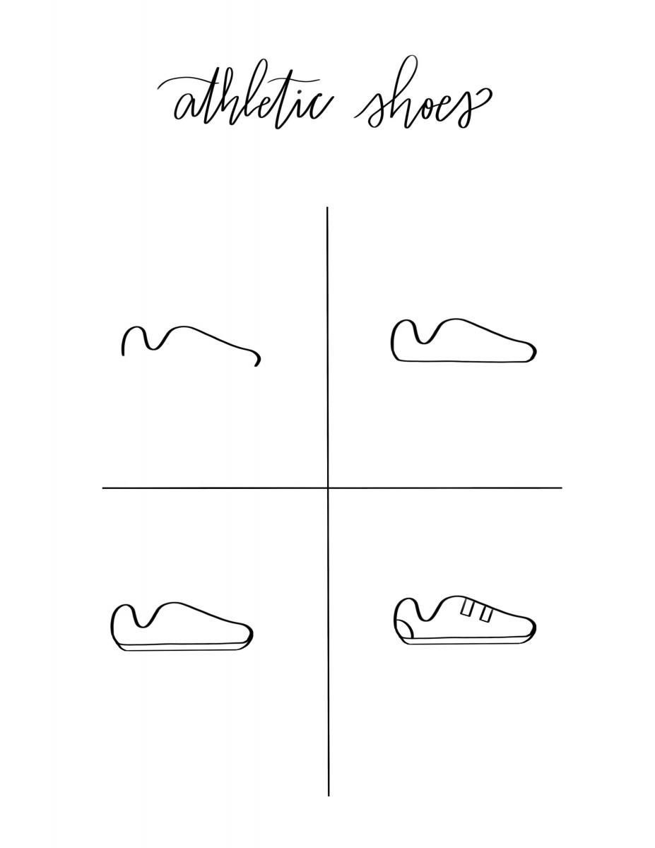 alfasengupta doodles, alfa the artist doodles, tennis shoe doodle, how to draw shoes,  athletic shoe doodle, adidas cloudfoam,
