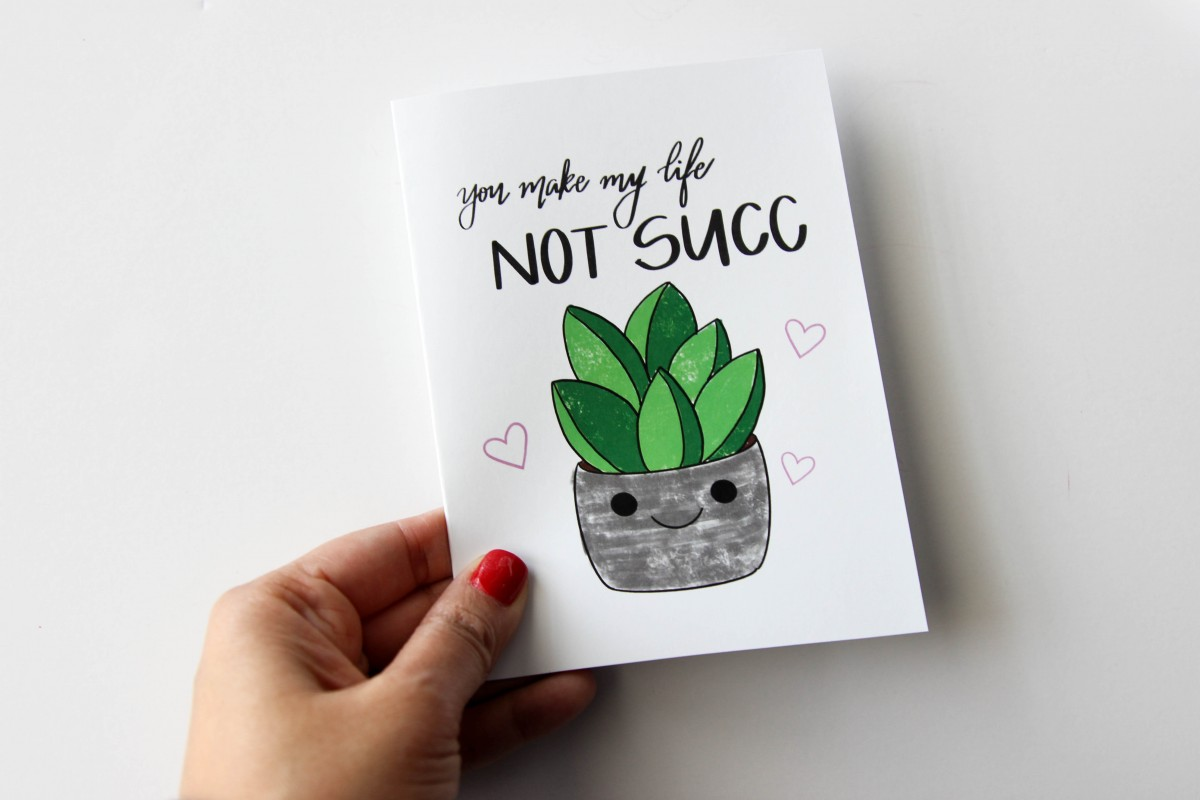you make my life not succ, succulent doodle, alfa sengupta, love alfa, alfa the artist, doodles, valentine bullet journal, easy valentine doodles, diy card, diy valentine card